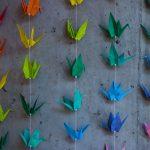 Kolorowe ptaki origami