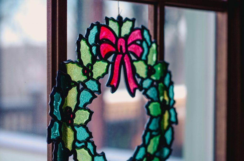 Świąteczna ozdoba okna