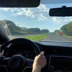 Podróż autem z perspektywy pasażera