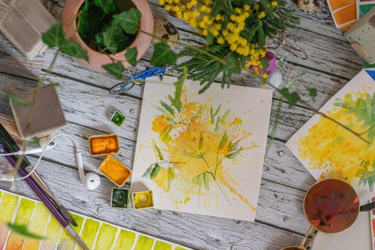 Malowanie obrazu w domu